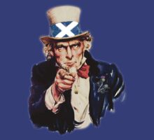 Uncle Sam Says Yes Scottish Independence Tee by simpsonvisuals