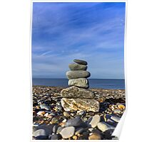 Pebbles and Rocks Poster