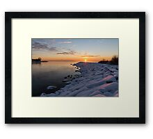 Subtle Pinks and Golds and Violets in a Bright Sunrise Framed Print