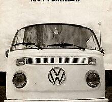 VW Camper Birthday Van Fan by splashgti
