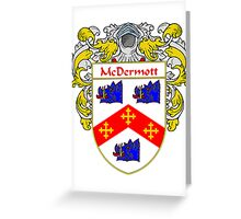 McDermott Coat of Arms/Family Crest Greeting Card