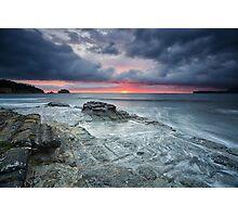 Tessellated Pavement Sunrise, Eaglehawk Neck, Tasmania Photographic Print
