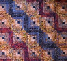 """""""Autumn Leaves"""" Log Cabin Quilt by Jean Gregory  Evans"""
