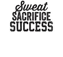 Sweat Sacrifice Success (Black) Photographic Print