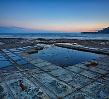 Tessellated Pavement Sunset, Eaglehawk Neck, Tasmania by Chris Cobern