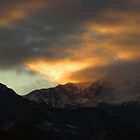 Winter Sunset Over Pike's Peak by dfrahm