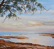 Fishing at Eventide, Elliott Head, Bundaberg Que. Aust. by Rita Blom
