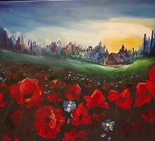 red poppies by mgryko