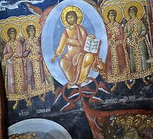 Fresco detail at the Patriarchate of Peja by David Perrin