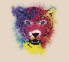 Tiger - Colorful Paint Splatters Dubs - T-Shirt Stickers Art Prints by Denis Marsili