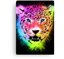 Tiger - Colorful Paint Splatters Dubs - T-Shirt Stickers Art Prints Canvas Print