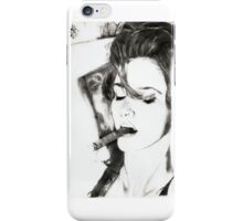 smoking cigar.. pencil iPhone Case/Skin