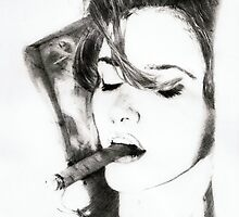 smoking cigar.. pencil by danijelg