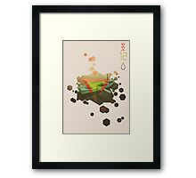 SINKING TO NEW HEIGHTS Framed Print