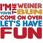 Weiner + Bun by oneskillwonder