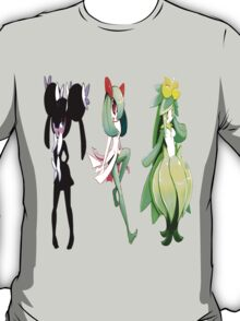 Kirlia Gothorita and Lilligant T-Shirt
