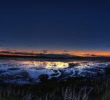 Sunset near Bamburgh by Nigel Bangert