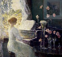 Childe Hassam - The Sonata by TilenHrovatic