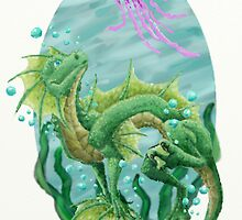 Water Dragon and Jelly by SonyaGreen