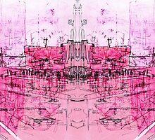pink - huddersfield train stationx by H J Field