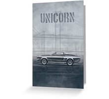 Ford Mustang Eleanor Unicorn Movie Inspired Muscle Car Greeting Card