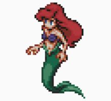 Ariel Pixel Retro Mermaid  by cocolima