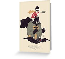 to the batmobile Greeting Card