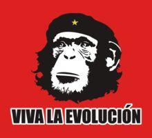 Viva La Evolucion Funny Chimp Che by evolucion