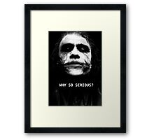 The Joker. Framed Print
