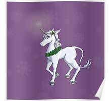 Holly Unicorn Poster