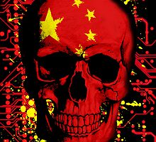 Chinese Skull Flag by sebmcnulty