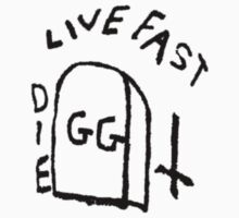 GG Allin Live Fast Die Tattoo by GuitarManArts