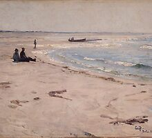 Eilif Peterssen - From the Beach at Sele by TilenHrovatic