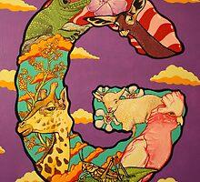 The Letter G Full Painting by alphabetbyjason
