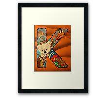 The Letter K Full Painting Framed Print