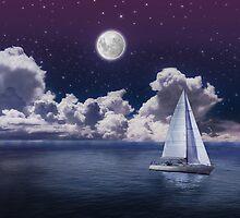 Moonlight Sailing by Walter Parada