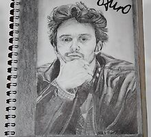 Drawing of James Franco by Frances Kilbane
