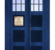 Portable Doctor Who Tardis by Bearded Wonder Kid by Edwin Culling