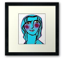 Cerulean Cecilia Framed Print