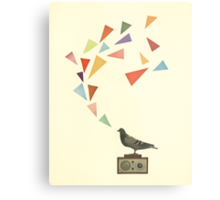 Pigeon Radio Metal Print