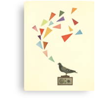 Pigeon Radio Canvas Print