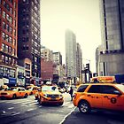 New York Taxis by Gillian Blair