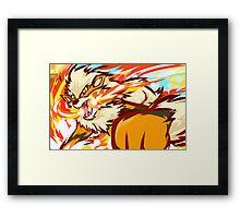 Arcanine   Fire Fang Framed Print