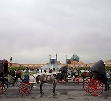 Horse and Carriage, Isfahan, Iran by Jane McDougall
