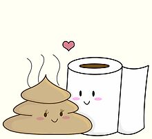 Poop & Toilet Paper (Love at First Wipe!) by charsheee