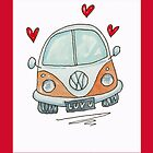 Camper Van with Love  by AndyLanhamArt