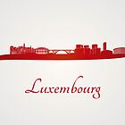 Luxembourg skyline in red by paulrommer