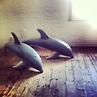 Wooden Dolphins by Gillian Blair