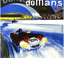 24 Hours of LeMans - 1958 Poster Art by Chunga