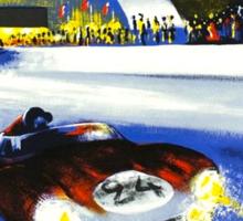 24 Hours of LeMans - 1958 Poster Art Sticker